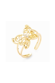 Lets Accessorize Butterfly Cuff Ring - Front cropped