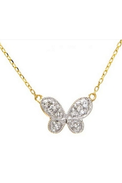 Lets Accessorize Butterfly Pave Necklace - Alternate List Image