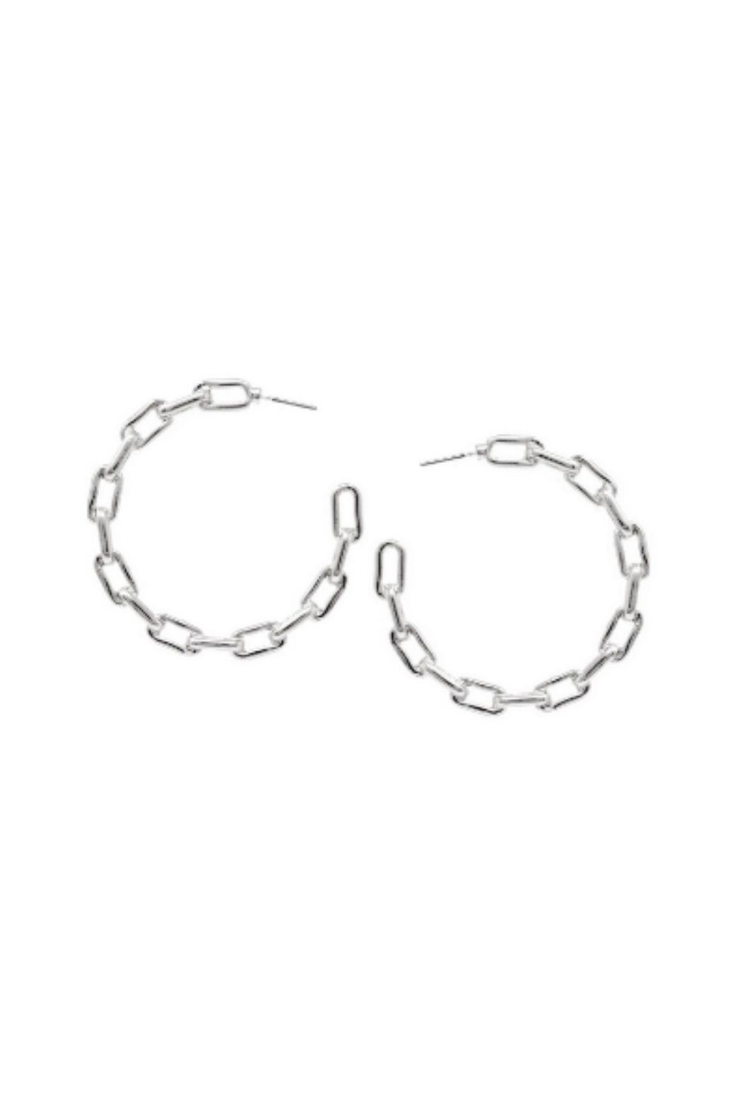Lets Accessorize Chain Link Hoop - Main Image