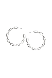 Lets Accessorize Chain Link Hoop - Front cropped
