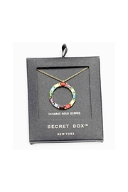 Lets Accessorize Colorful Stone Circle Necklace - Front full body