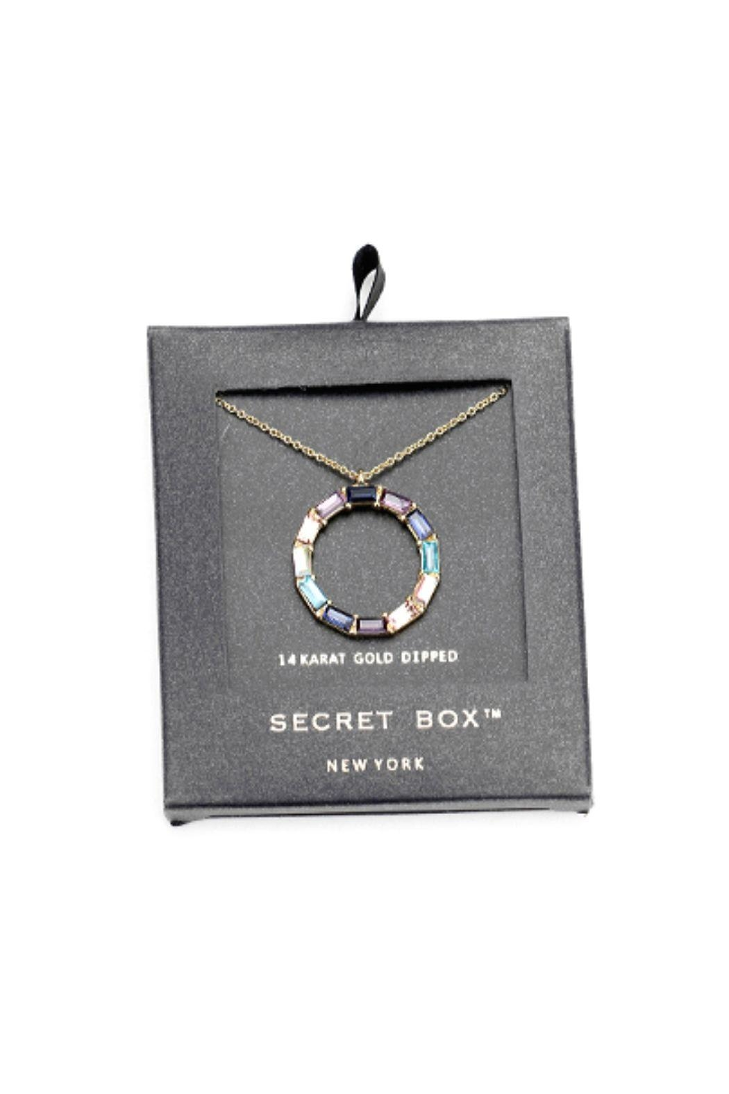 Lets Accessorize Colorful Stone Circle Necklace - Front Full Image