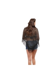Lets Accessorize Crochet Fringe Shawl - Front full body