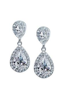 Lets Accessorize Crystal Statement Earrings - Alternate List Image