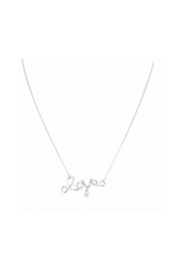 Lets Accessorize Cursive Love Necklace - Product Mini Image