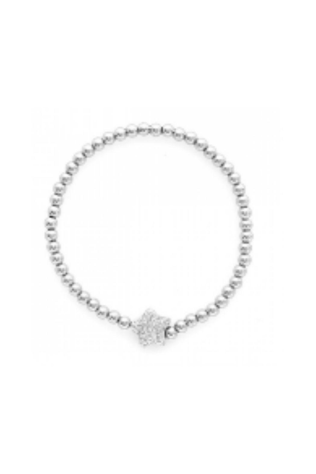 Lets Accessorize Cz Beaded Heart Bracelet - Front Full Image