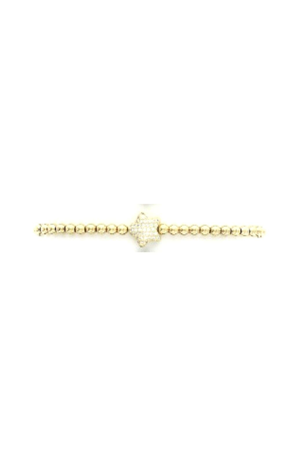 Lets Accessorize Cz Beaded Heart Bracelet - Front Cropped Image