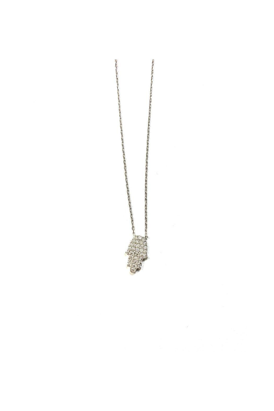 Lets Accessorize Cz Hamsa Necklace - Side Cropped Image