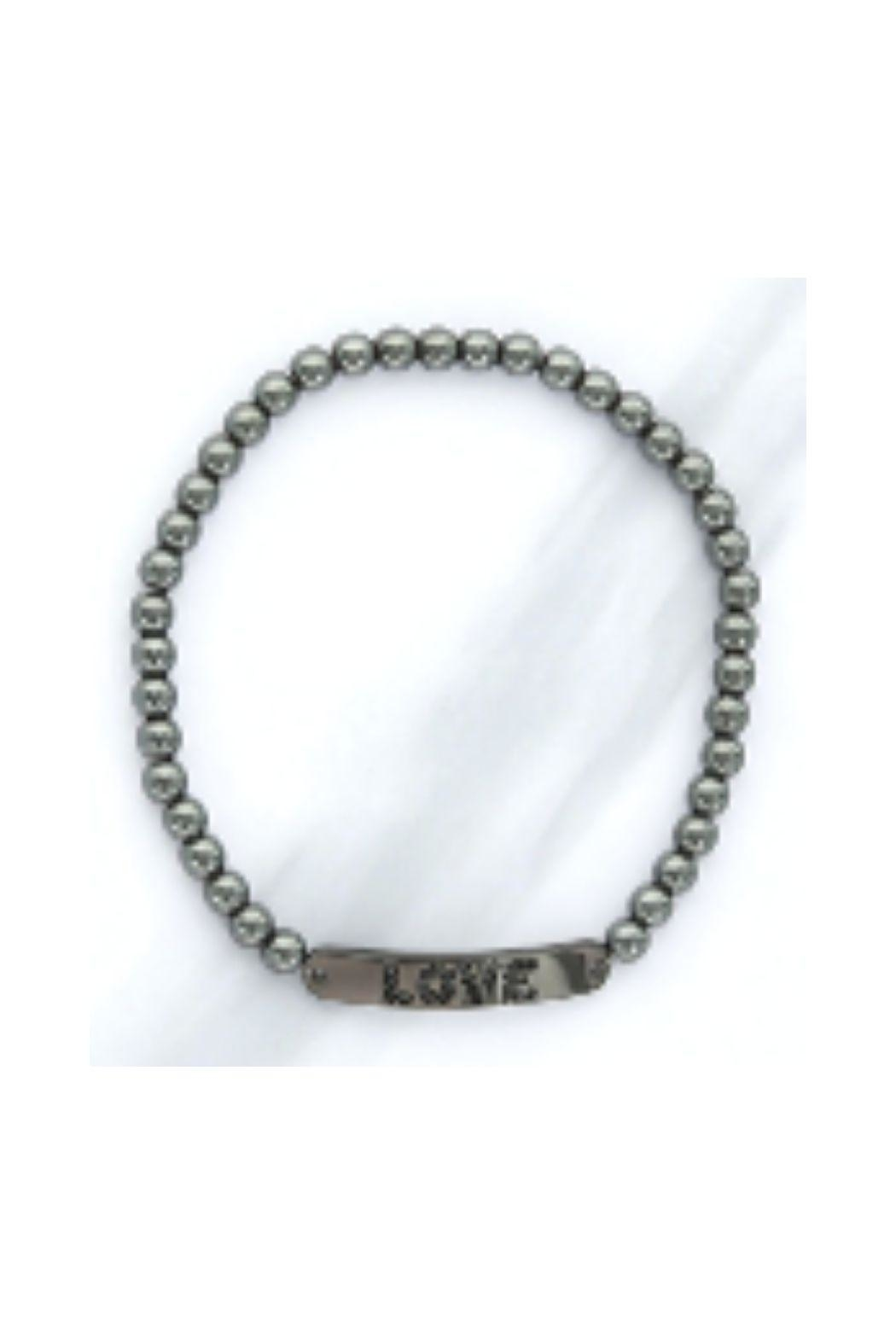 Lets Accessorize Cz Love Beaded Bracelet - Front Cropped Image