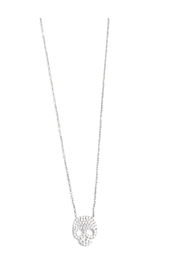 Lets Accessorize Cz Skull Necklace - Front cropped