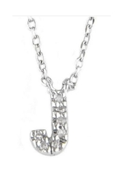 Lets Accessorize Diamond Initial Necklace - Other