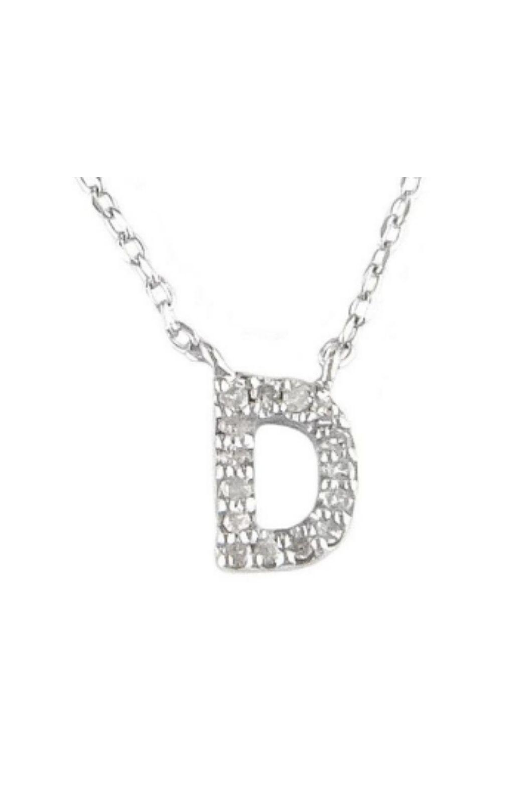 Lets Accessorize Diamond Initial Necklace - Back Cropped Image