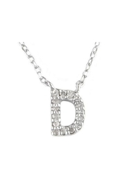 Lets Accessorize Diamond Initial Necklace - Back cropped