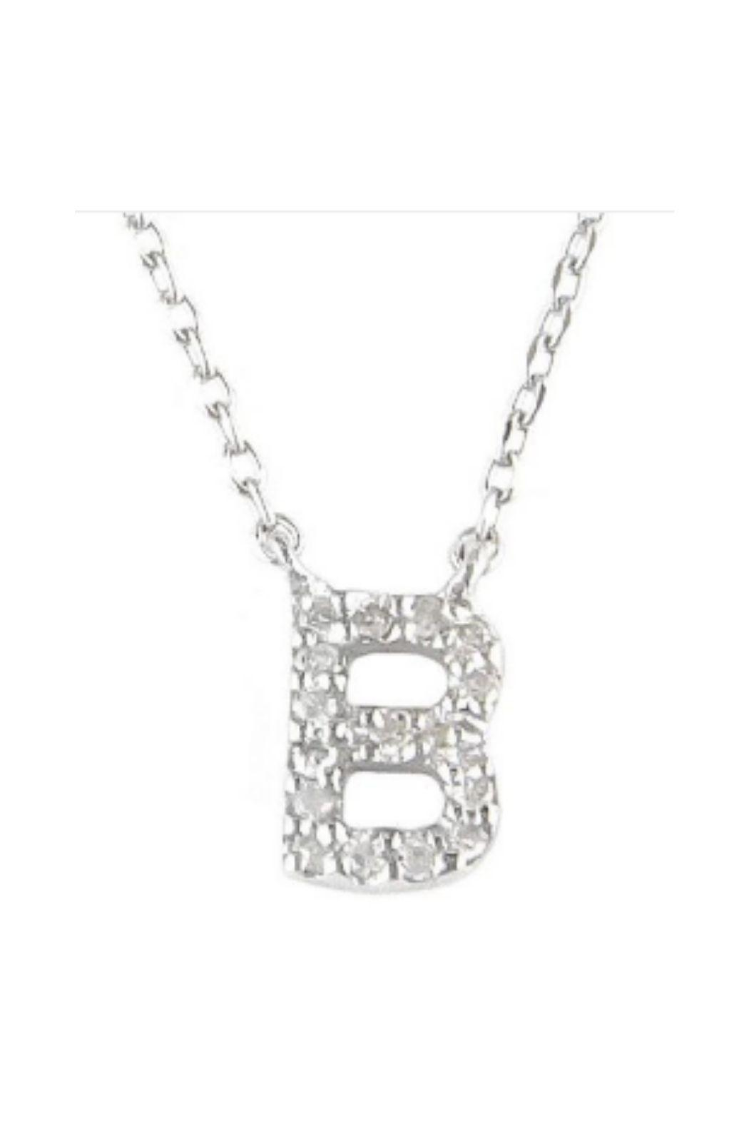 Lets Accessorize Diamond Initial Necklace - Front Full Image