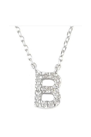 Lets Accessorize Diamond Initial Necklace - Front full body