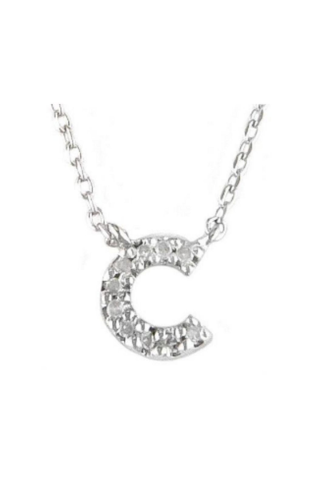 Lets Accessorize Diamond Initial Necklace - Side Cropped Image