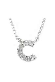 Lets Accessorize Diamond Initial Necklace - Side cropped