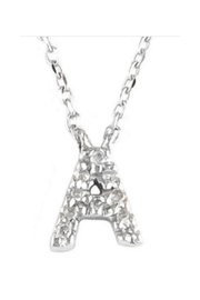 Lets Accessorize Diamond Initial Necklace - Front cropped