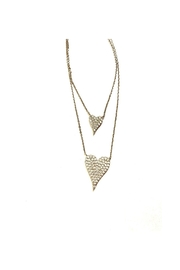 Lets Accessorize Double Pave Heart - Product Mini Image