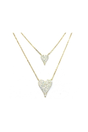 Lets Accessorize Double Pave Heart - Front cropped