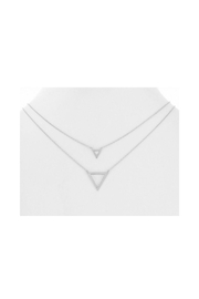 Lets Accessorize Double Triangle Necklace - Product Mini Image