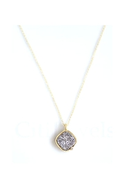 Lets Accessorize Druzy Stone Necklace - Product Mini Image