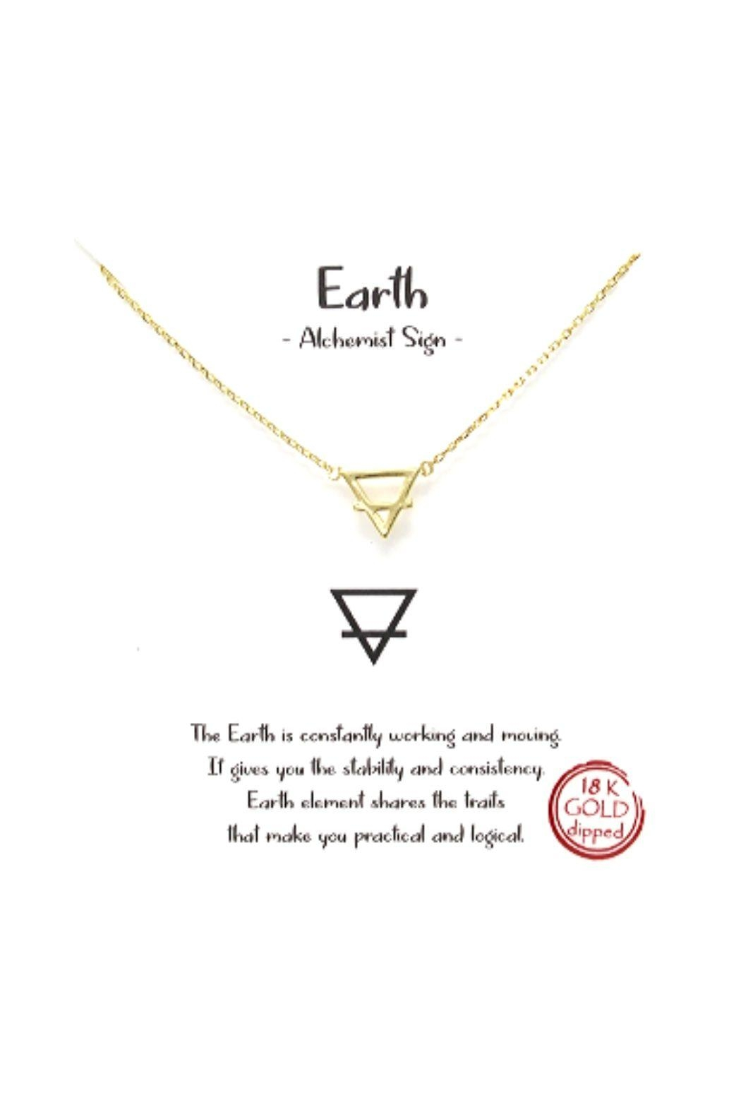 Lets Accessorize Earth Sign Necklace - Main Image