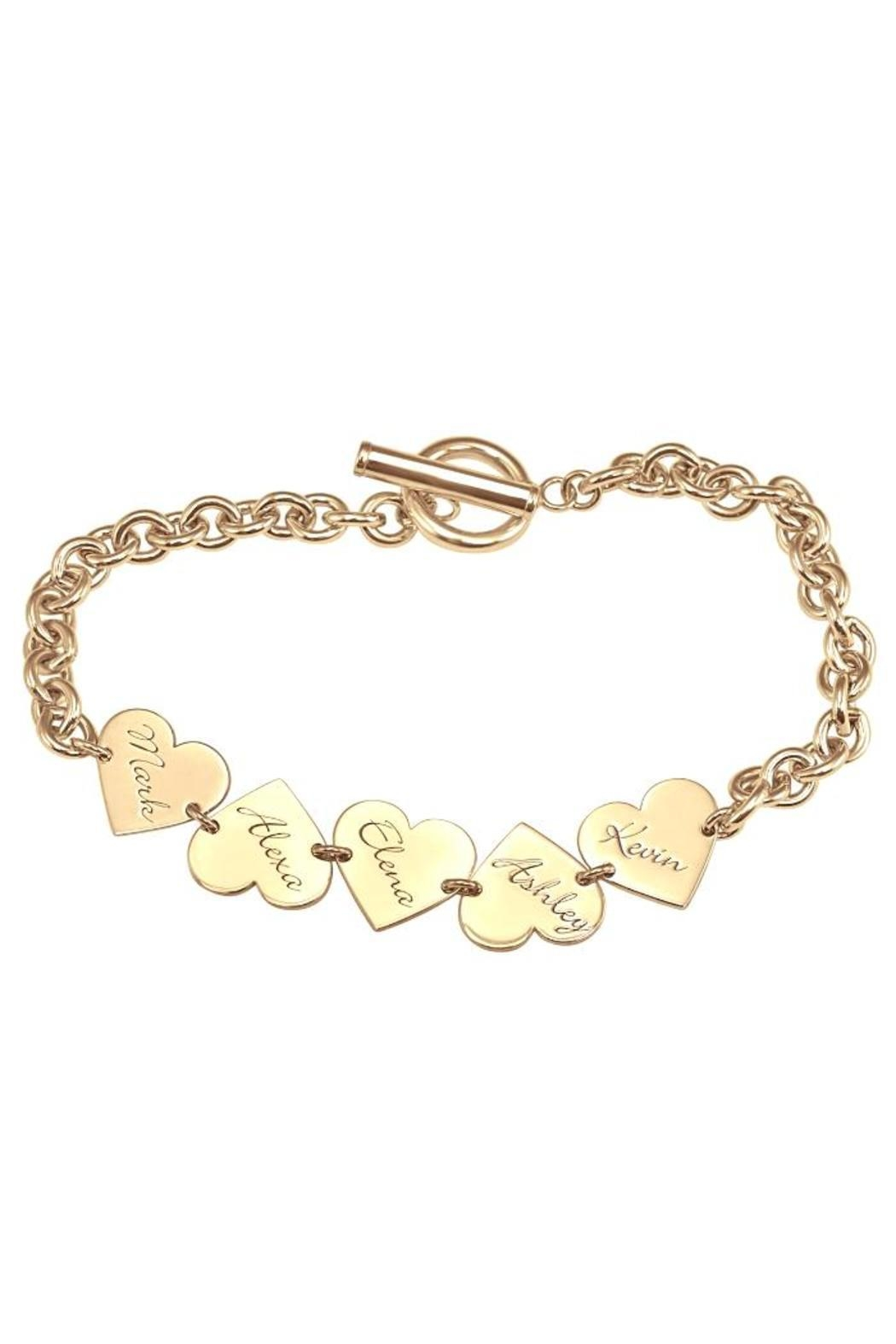 Lets Accessorize Family Heart Bracelet - Front Cropped Image