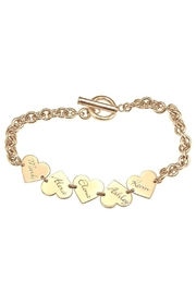 Lets Accessorize Family Heart Bracelet - Front cropped