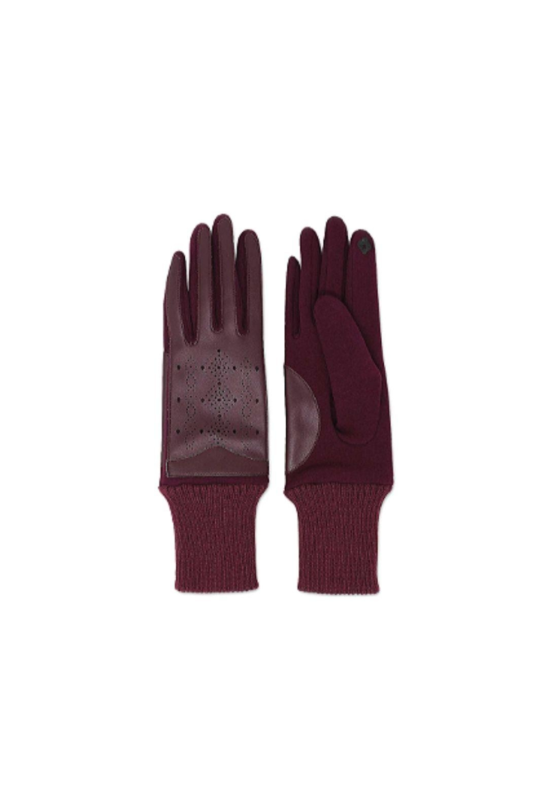 Lets Accessorize Faux Leather Smart Touch Gloves - Main Image