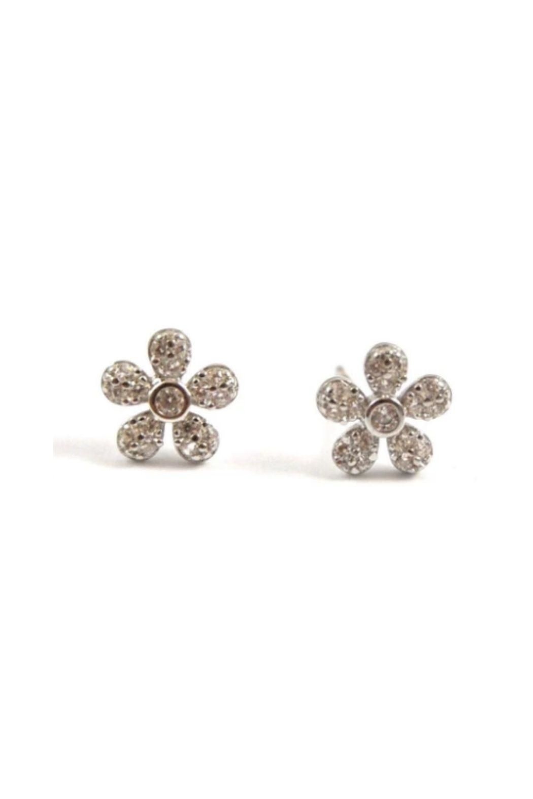 Lets Accessorize Flower Stud Earrings - Front Cropped Image