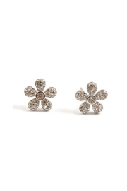 Lets Accessorize Flower Stud Earrings - Front cropped