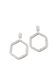 Lets Accessorize Geometric Rhinestone Earrings - Product Mini Image