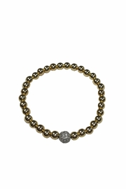 Lets Accessorize Gold Crystal Bracelet - Product Mini Image