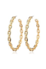 Lets Accessorize Gold Link Hoops - Product Mini Image