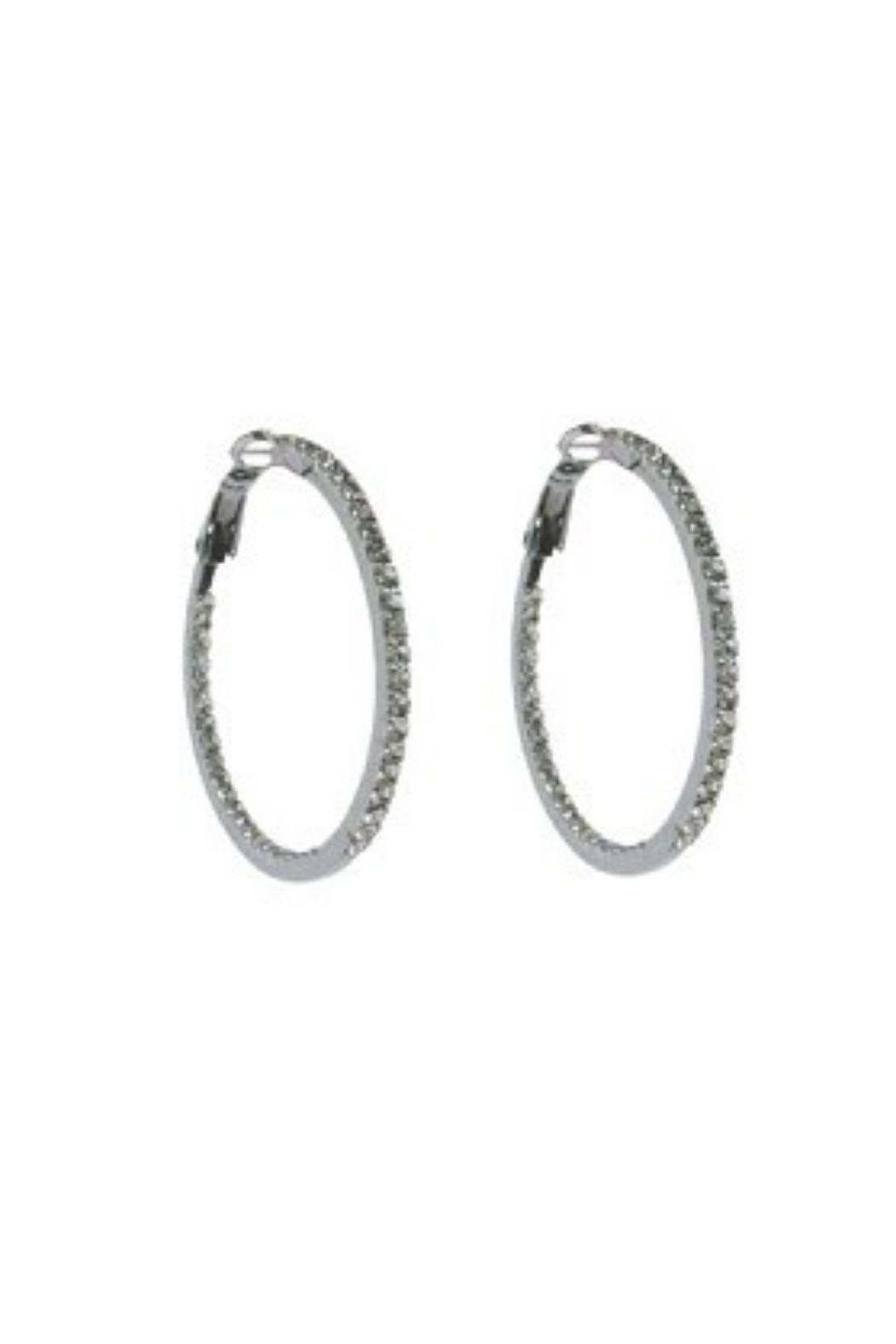 Lets Accessorize Rhinestone Hoop - Front Cropped Image