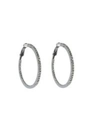 Lets Accessorize Rhinestone Hoop - Front cropped
