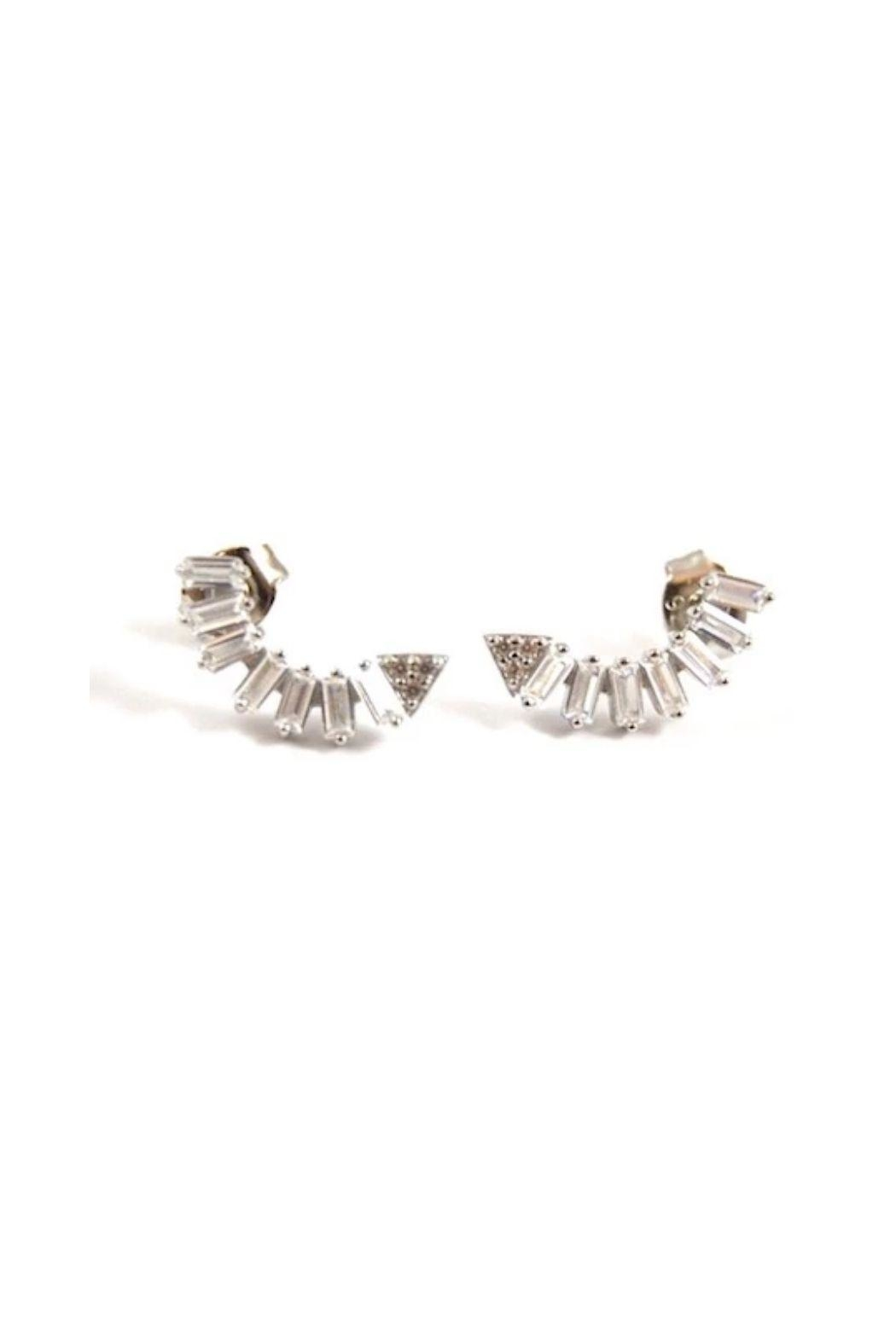 Lets Accessorize Half Moon Earrings - Front Cropped Image