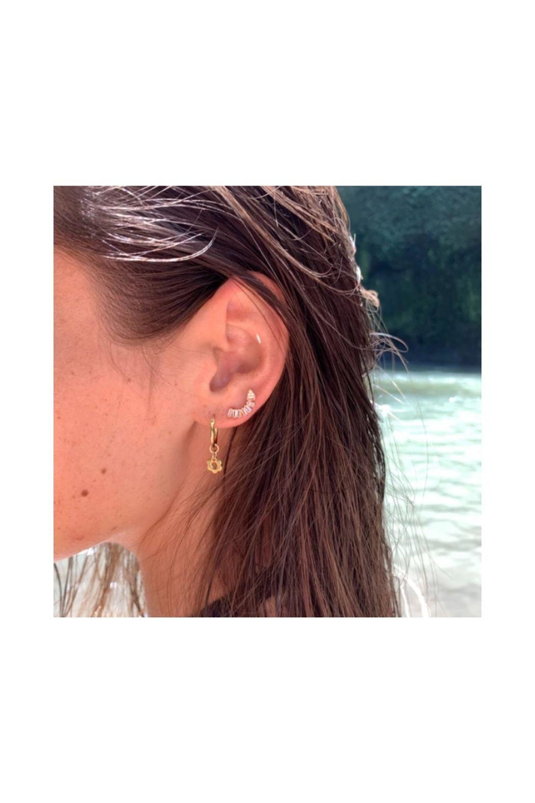 Lets Accessorize Half Moon Earrings - Front Full Image