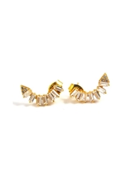 Lets Accessorize Half Moon Earrings - Product Mini Image