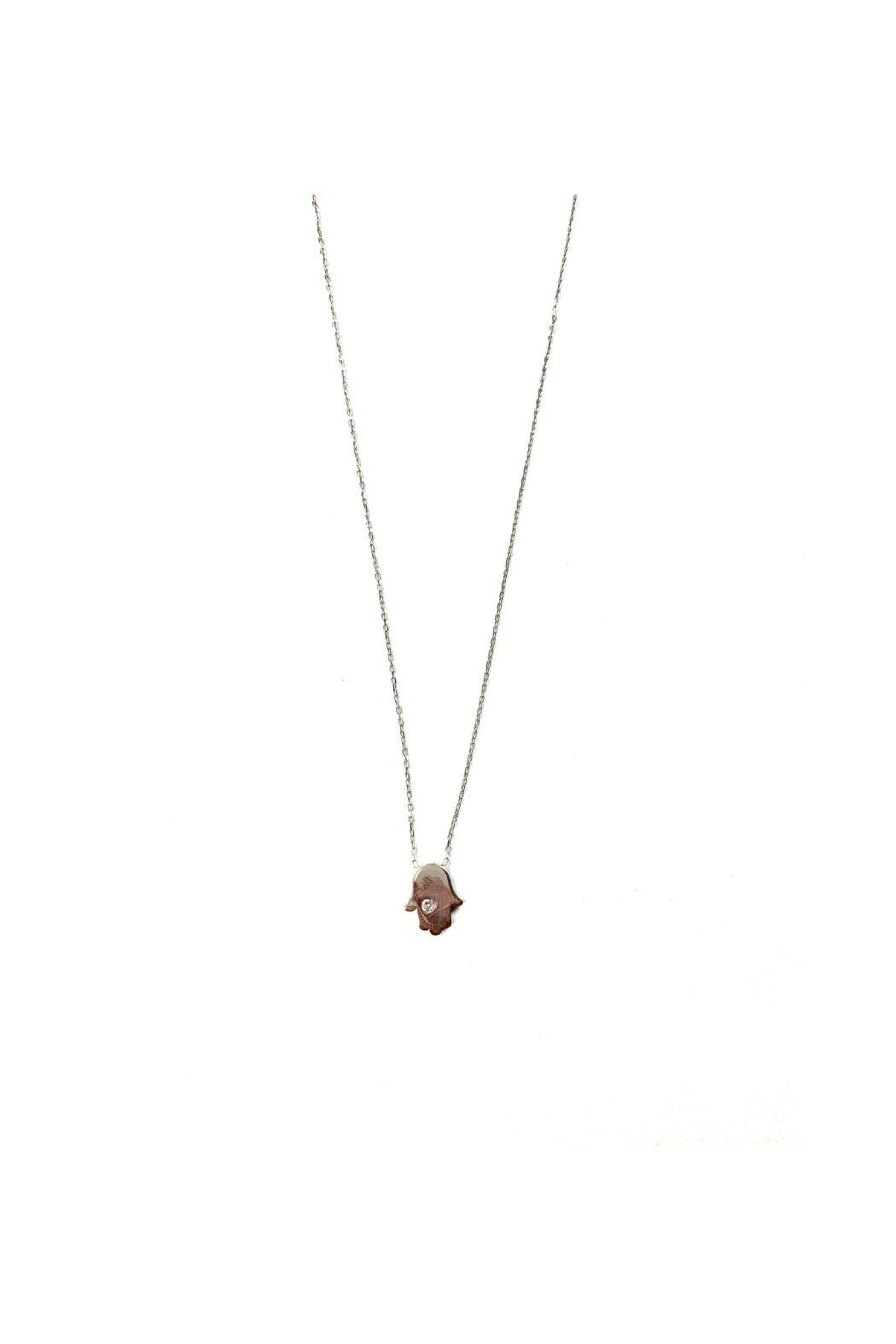 Lets Accessorize Hamsa With Cz Necklace - Main Image