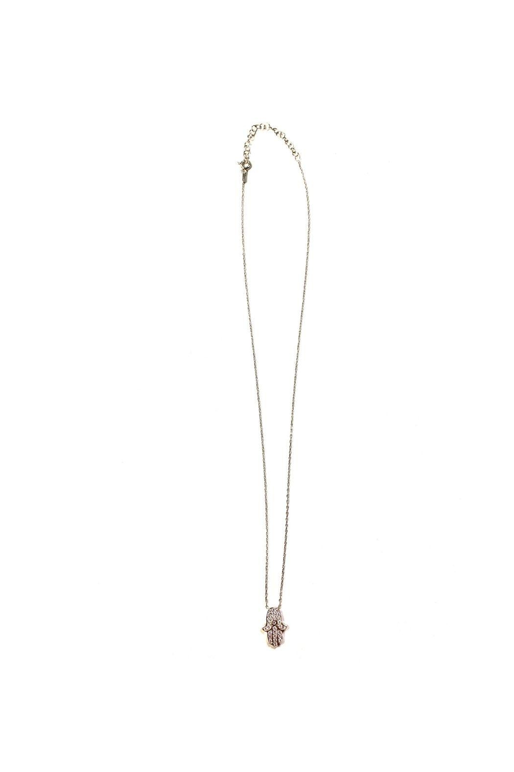 Lets Accessorize Hamsa With Cz Stone Necklace - Main Image
