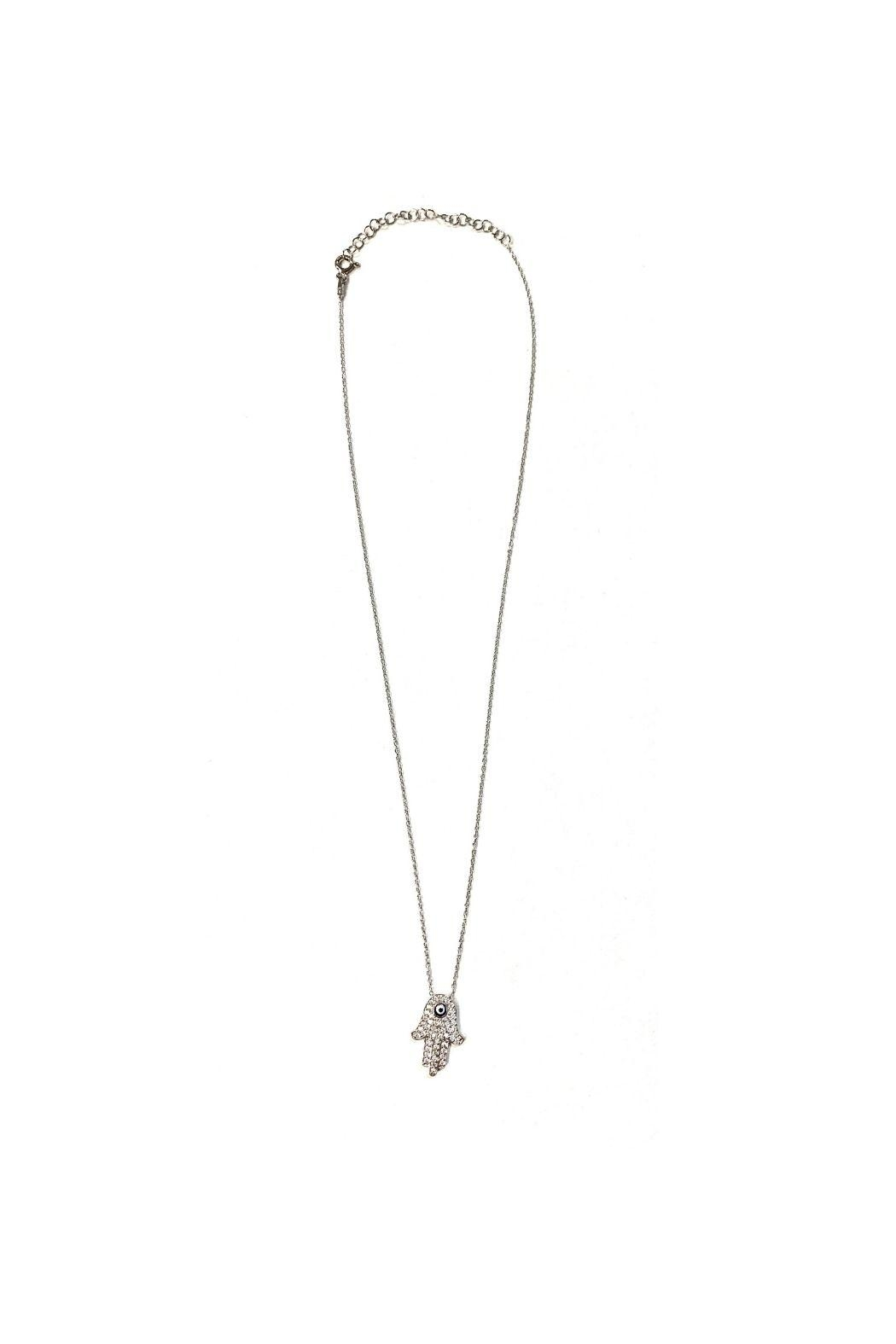 Lets Accessorize Hamsa With Evil Eye Necklace - Front Cropped Image