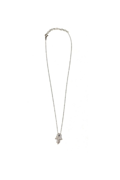Lets Accessorize Pave Hamsa With Evil Eye Necklace - Product List Image