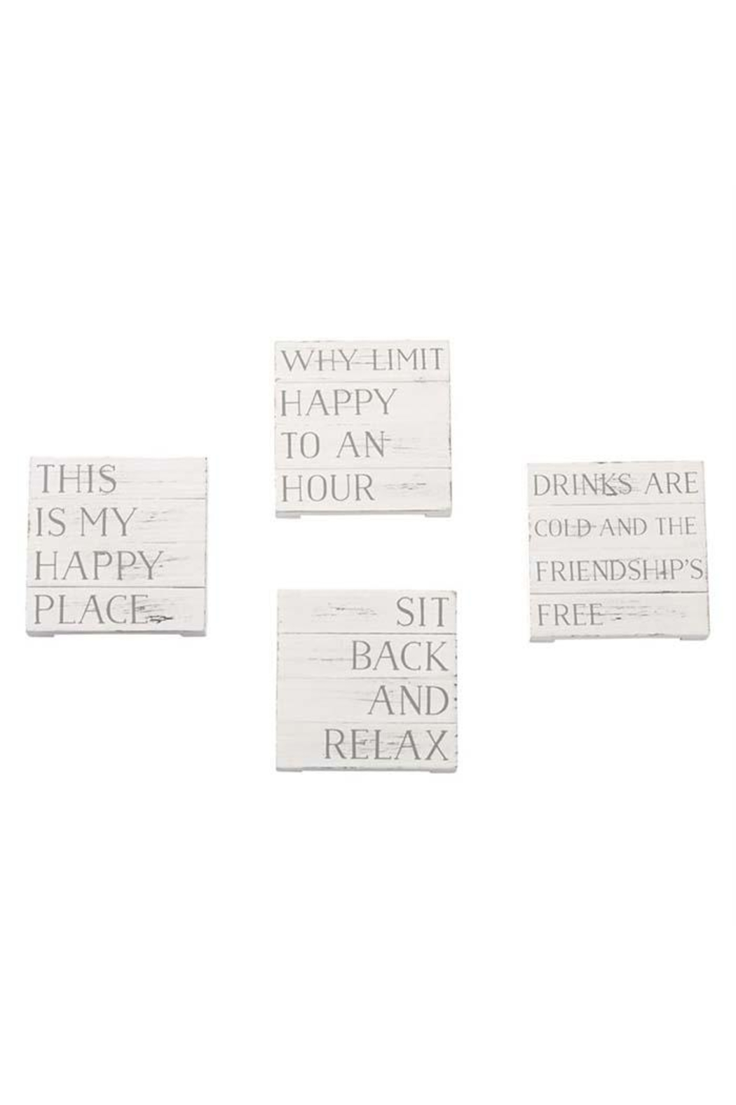 Lets Accessorize Happy Planked Coasters - Main Image