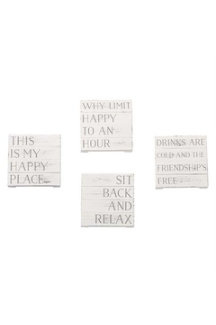 Shoptiques Product: Happy Planked Coasters