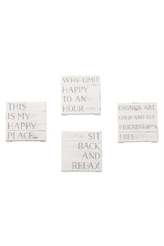 Lets Accessorize Happy Planked Coasters - Product Mini Image