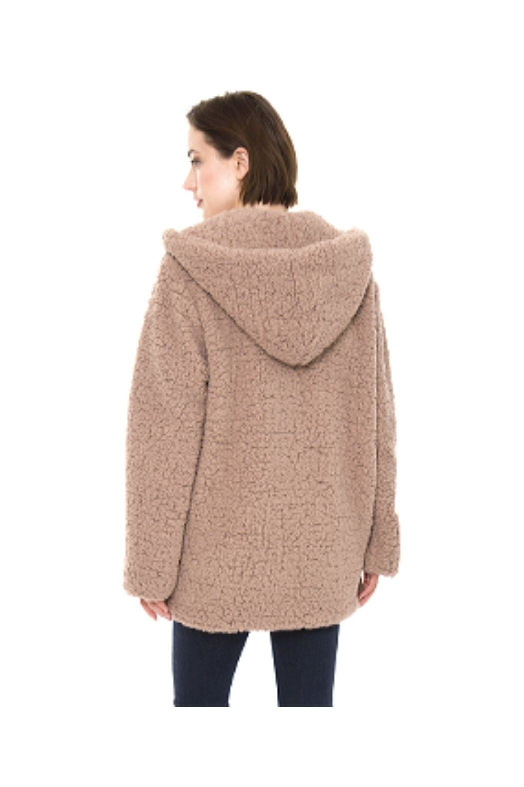 Lets Accessorize Hooded Sherpa Jacket - Front Full Image