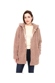 Lets Accessorize Hooded Sherpa Jacket - Product Mini Image