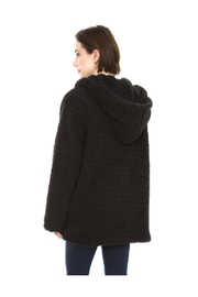 Lets Accessorize Hooded Sherpa Jacket - Front full body
